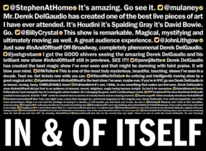 Derek DelGaudio's IN & OF ITSELF Celebrates One Year Of Performances Off-Broadway