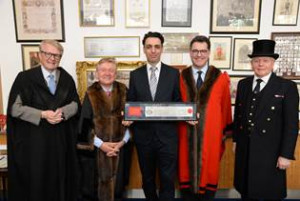 Former Artistic Director Of Theatre Royal Stratford East Kerry Kyriacos Michael Receives Freedom Of The City Of London