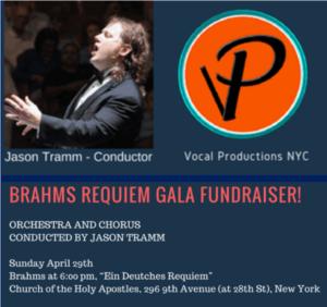 Jason Tramm To Conduct Brahms' Ein Deutsches Requiem, Opus 45, 4/29