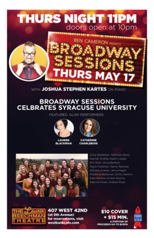 Syracuse University Comes To Broadway Sessions, 5/17