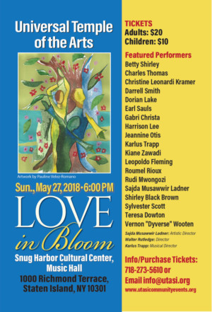 LOVE IN BLOOM Comes to Snug Harbor Cultural Center, 5/27