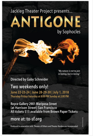 Jackleg Theater Project To Stage Sophocles' ANTIGONE