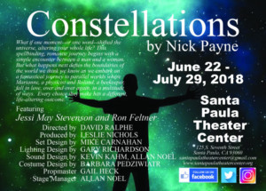 CONSTELLATIONS Opens At Santa Paula Theater Center