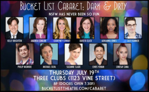 Bucket List Theatre Presents Third Installment of BUCKET LIST CABARET