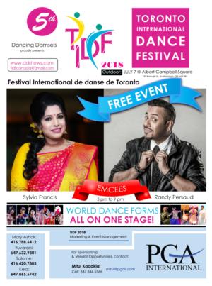 5th Annual Toronto International Dance Festival 2018 Announced