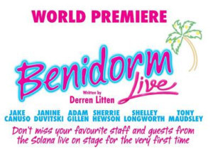 Benidorm Writer Derren Litten To Join The Stars Of The Solana Hotel Live On Stage