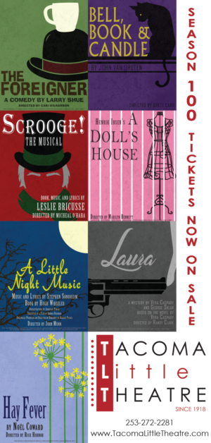 Tacoma Little Theatre Announces 100TH SEASON Beginning This September