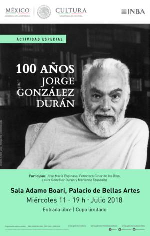 Recordarán Al Escritor Jorge González Durán En El Centenario De Su Natalicio