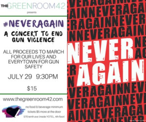 #NEVERAGAIN: A CONCERT TO END GUN VIOLENCE Comes To The Green Room 42