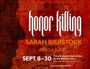 Athena Project Presents HONOR KILLING To Debut In Denver At The JCC Denver