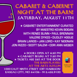 Don't Miss The Songs And Sips At The Barn Players Cabaret & Cabernet