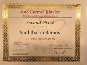 Saúl Ibarra Ramos, Alumno De La Cátedra Ricardo Castro, Triunfa En Uno De Los Concursos Internacionales Más Importantes En EUA