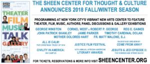 Sheen Center Announces Fall/Winter Season 2018