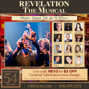 REVELATION: THE MUSICAL Takes the Stage at Feinstein's/54 Below