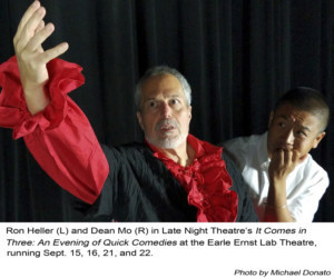 Late Night Theatre Presents IT COMES IN THREES: An Evening of Quick Comedies