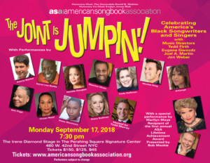 American Songbook Association Presents Its First Annual Gala THE JOINT IS JUMPIN'!