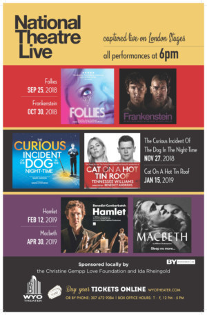 National Theatre Live Premieres at the WYO for the 2018-2019 Season