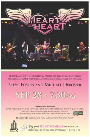 The Legendary Music of Heart Rocks the WYO, Today