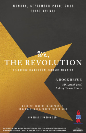 WE, THE REVOLUTION Featuring HAMILTON Company Members to Benefit BC/EFA