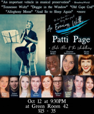 Green Room 42 Hosts AN EVENING WITH PATTI PAGE