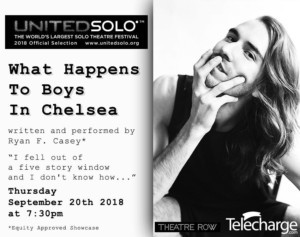 United Solo Theatre Festival Presents WHAT HAPPENS TO BOYS IN CHELSEA