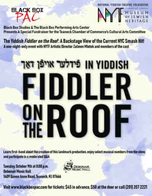 FIDDLER ON THE ROOF in Yiddish Comes to Teaneck!