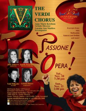 The Verdi Chorus 35th Anniversary Season Ends with PASSIONE! OPERA!