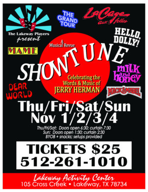 Lakeway Players Announce SHOWTUNE: CELEBRATING THE WORDS & MUSIC OF JERRY HERMAN