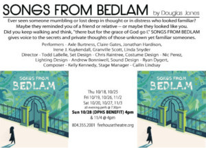 Firehouse And Daily Planet Announce Partnership For SONGS FROM BEDLAM
