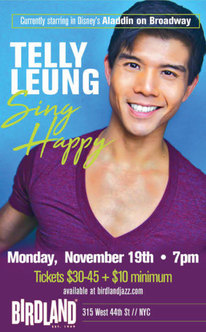 Telly Leung to Debut New Concert SING HAPPY at Birdland in November