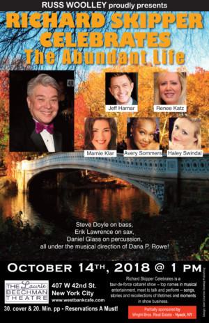 Richard Skipper Celebrates The Abundant Life at the Laurie Beechman Theatre