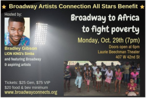 Broadway Artists Connection Presents 'Broadway To Africa To Fight Poverty'