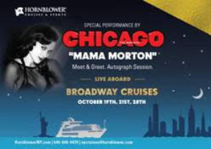 Broadway by Boat: Cast Members from CHICAGO to Close Hornblower's Broadway Cruises 2018 Season