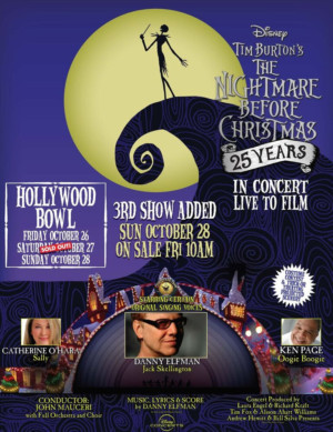 Third Performance Added 25th Anniversary Of THE NIGHTMARE BEFORE CHRISTMAS