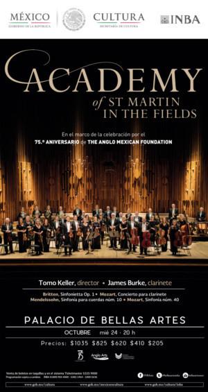 Vuelve A México La Orquesta Academy Of St Martin In The Fields; Ofrecerá Concierto En El Palacio De Bellas Artes