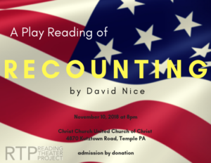 Reading Theater Project Presents RECOUNTING
