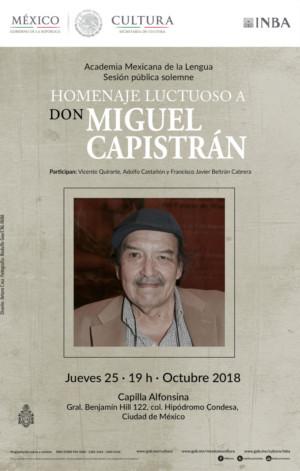 Resultado de imagen para Miguel Capistrán será recordado a seis años de su fallecimiento