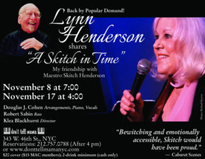 Back by Popular Demand, Don't Tell Mama Presents A SKITCH IN TIME: MY FRIENDSHIP WITH MAESTRO SKITCH HENDERSON