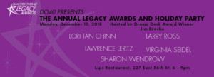 Dancers Over 40's 10th Annual Legacy Awards And Holiday Dinner Will Be Held December 10