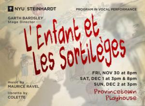 NYU Steinhardt To Stage L'ENFANT ET LES SORTILEGES