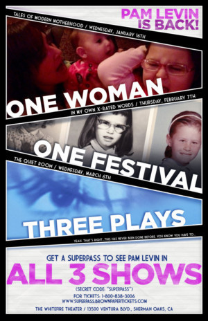 One Woman, One Festival, Three Plays Pam Levin Presents 2019 SOLOFEST TRIFECTA