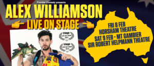 Alex Williamson Wraps Up 22 Date Regional Tour With Shows Added In Horsham And Mt. Gambier
