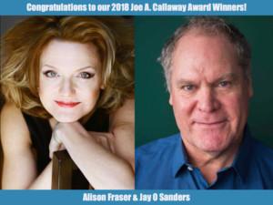 Alison Fraser, Jay O. Sanders Receive Actors' Equity Foundation Joe A. Callaway Award