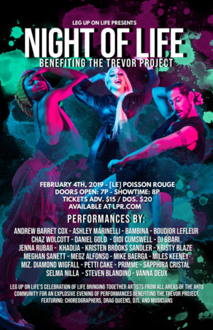 Leg Up On Life Holds Second NIGHT OF LIFE Benefiting The Trevor Project