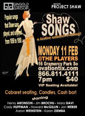 Jim Brochu, Mara Davi, Cady Huffman And More Announced For SHAW SONGS