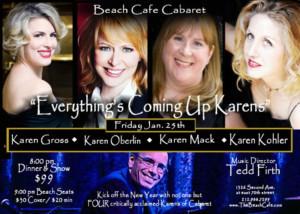 Four Karens Of Cabaret Come to The Beach Cafe NYC