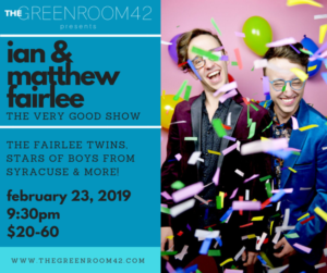 Twins Ian & Matthew Fairlee Team Up For THE VERY GOOD SHOW at The Green Room 42