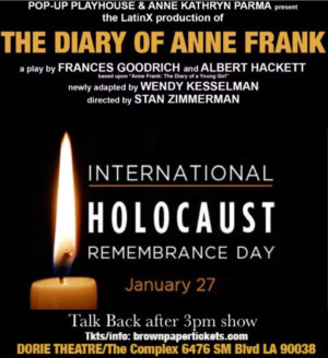 THE DIARY OF ANNE FRANK Observes Holocaust Remembrance Day With Post- Show Talk Back