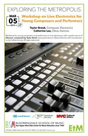 EtM Con Edison Composer in ResidenceTaylor BrookConducts Free Workshop for Young Composers