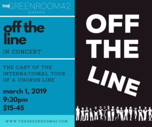 International Touring Casts Of A CHORUS LINE Unite In OFF THE LINE: A Concert At The Green Room 42